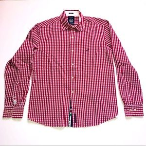 Saccor Brothers Red Plaid Men's Button Down Shirt